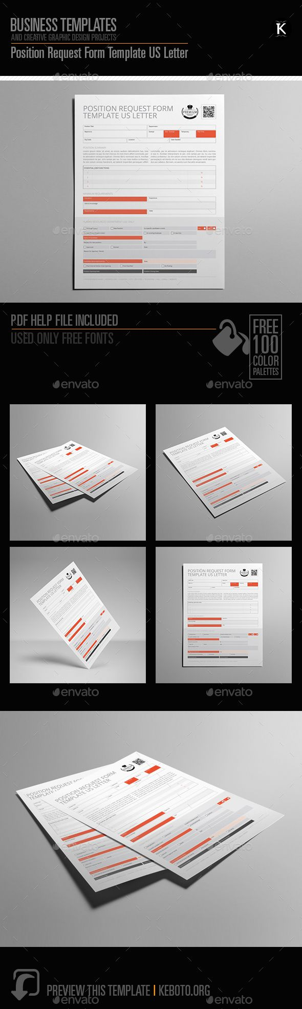 Preview this itemherePosition Request Form Template US LetterSpecifications: Format: U.S. Letter PortraitColor Model: CMYKSoftware