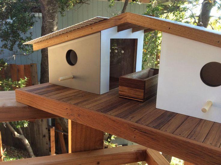 Mid Century Contemporary Birdhouses Modern Birdhouses Bird