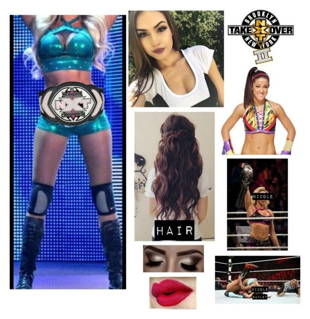 """Nicole Roode vs Bayley: NXT TakeOver: Back to Brooklynn"" by wwegirl2424 ❤ liked on Polyvore featuring art"