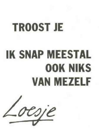 """Precies 25 jaar geleden werd ze geboren, Loesje. Op een simpele manier hield zij onze """"mind"""" soepel…. van harte Loesje!!… ;-)"""