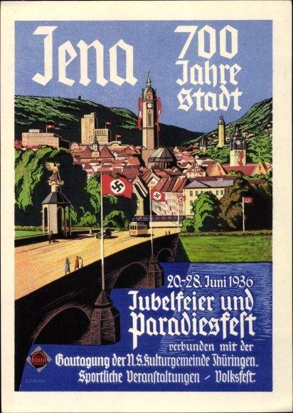 Jena In Thringen Jubelfeier Und Paradiesfest 1936 Volksfest