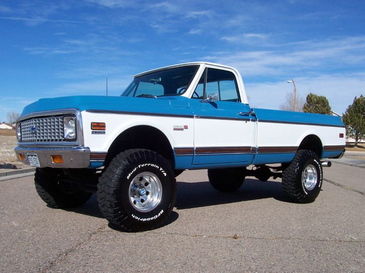 '72 Chevrolet K10 ... w/ 454swap from original 350, 4-speed manual, front and rear limited slip diffs. Pretty friggin' nice K10.