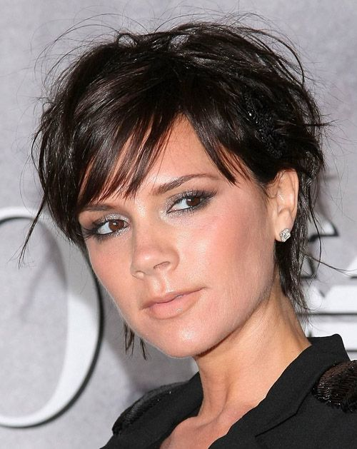 short hairstyles for thick hair round face - Google Search