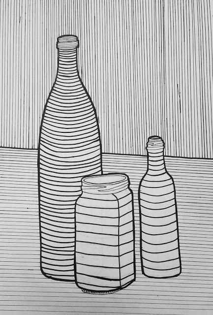 Ms Baumann S Art Class Cross Contour Still Life Line Art Lesson Contour Line Art Art