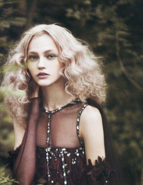glitzPaoloroversi, Sashapivovarova, Paolo Roversi, Fashion Models, Wild Hair, Long Hair, Sasha Pivovarova, Fashion Photography, Into The Wood