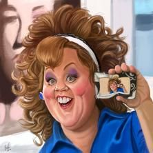 "Still frame of Melissa McCarthy at ""Identity Thief"" by REINU_CARTOON"