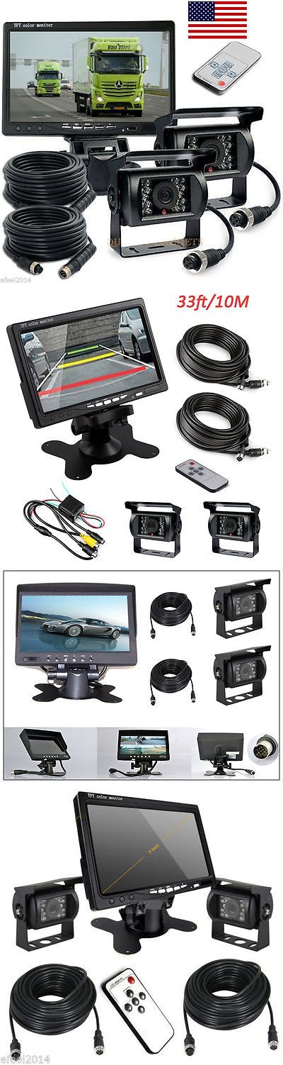 Rear View Monitors Cams and Kits: 7 Tft Lcd Monitor Waterproof Car Rear View 2* Night Vision Backup Camera System -> BUY IT NOW ONLY: $69.99 on eBay!