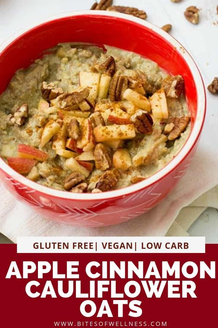 Apple Cinnamon Cauliflower Oats Are A Simple Healthy Low Carb