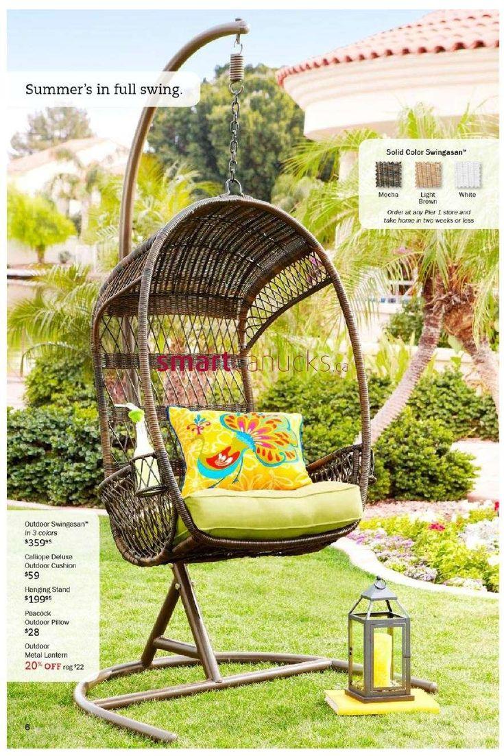 Pier 1 Imports Flyer Jun 3 To Jul 7. Swing ChairsOutdoor DecorOutdoor IdeasOutdoor  ...
