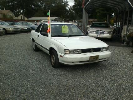 1991 Nissan Sentra XE, 2 Door, 86K Miles, White with Camel