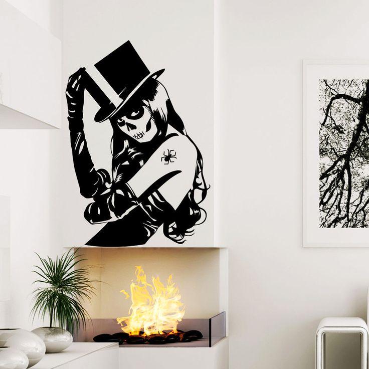 Halloween Witch Art Vinyl Wall Sticker Home Decoration Decal Decor Window MR805 #Stickalz