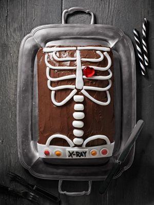 Make an x-ray vision cake!Rad Tech, X Ray Cake, Cake Ideas, X Rays, Cake Decor, Xray, Halloween Food, Graduation Cake, Halloween Cakes