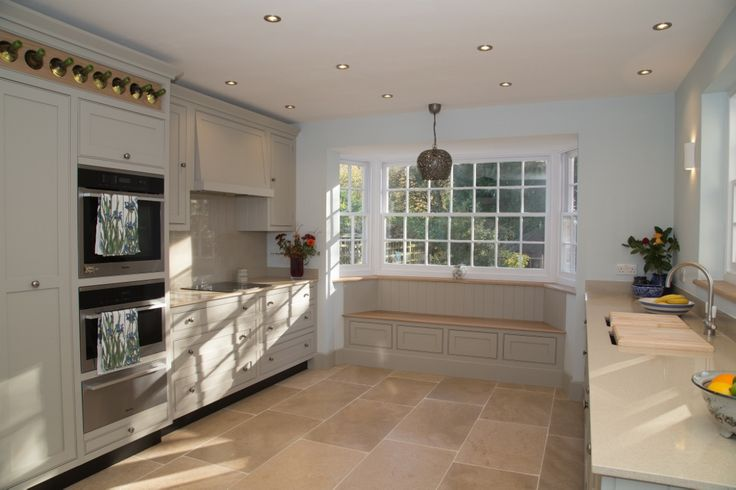 Another idea for using a stone floor in your kitchen, whatever the style or colour.  #kitchen #planning #tips