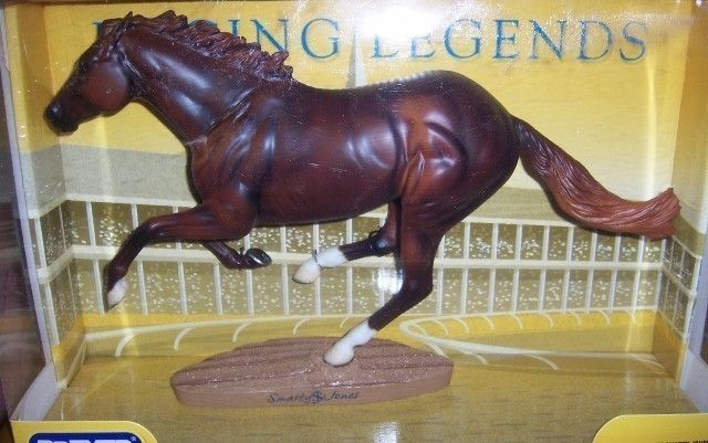 Breyer Smarty Jones Living Legends Series.  Smarty Jones is fourth on the all time earners list and in 2004, was syndicated for a reported 39 million dollars.