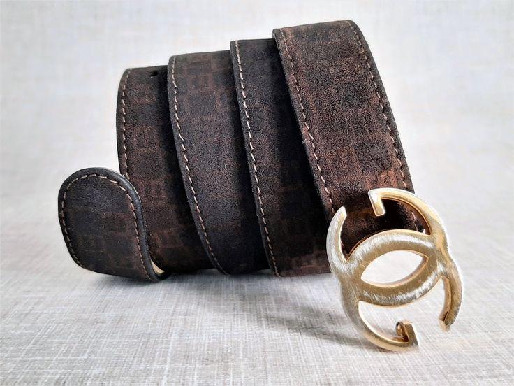 Suede Gucci Belt Brown Suede Gucci Belt Etsy in 2020