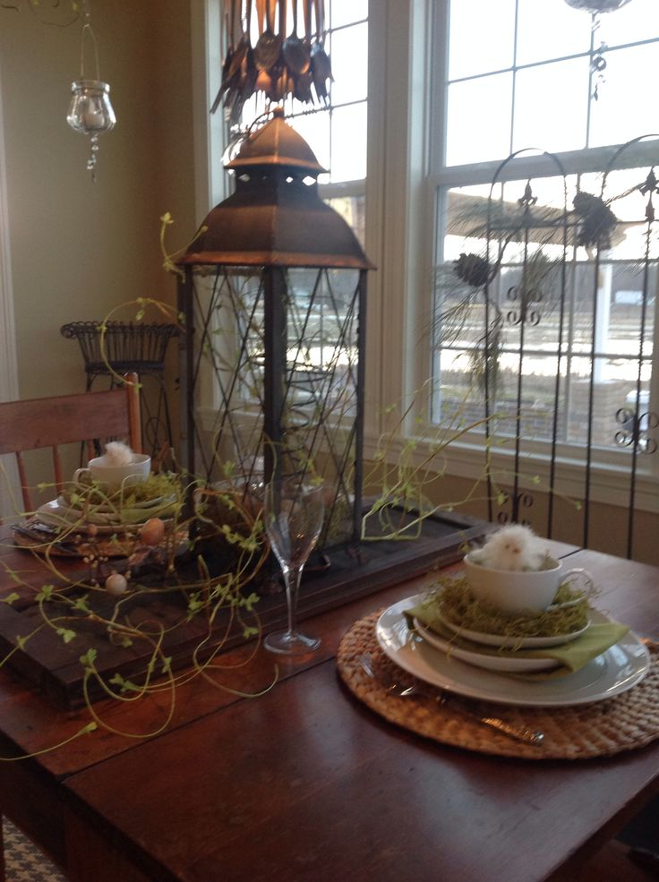 Easter Spring Table Decor 2014 My Home Decor Pinterest House
