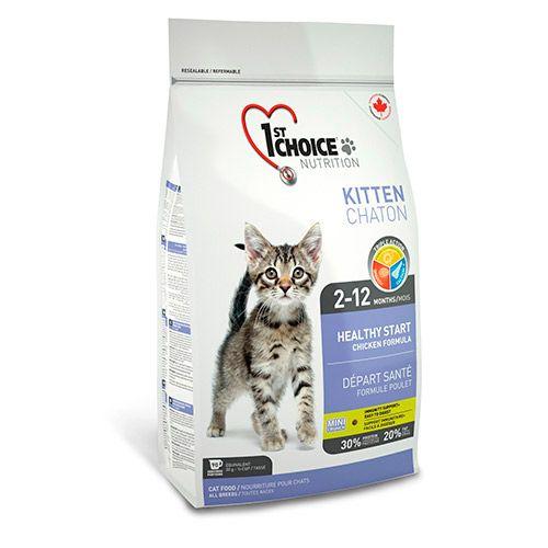 Корм для котят 1st CHOICE Здоровый старт, цыпленок сух. 907гСухие корма