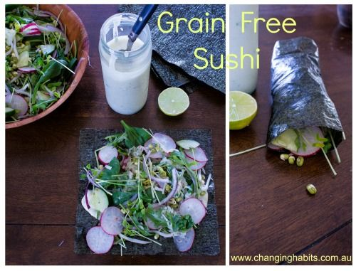 For those of you who are following a Hunter Gatherer diet, healing your leaky gut, following the GAPS diet or simply intolerant to Grains, getting creative in the kitchen can be a little bit tricky. Here is a nutritious and delicious Grain Free sushi recipe to get your creative juices flowing in the kitchen.