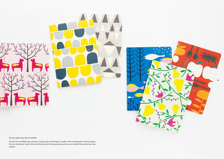 Product design: 'PIE Stationery' - 6 patterns of Scandinavian Design Notebooks: Yurio Seki's Designs and Patterns