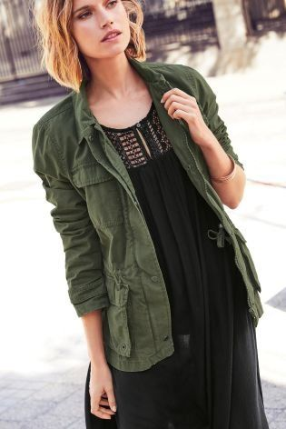 2aab555191b0 The best layer to complete your fall outfit – our khaki utility ...