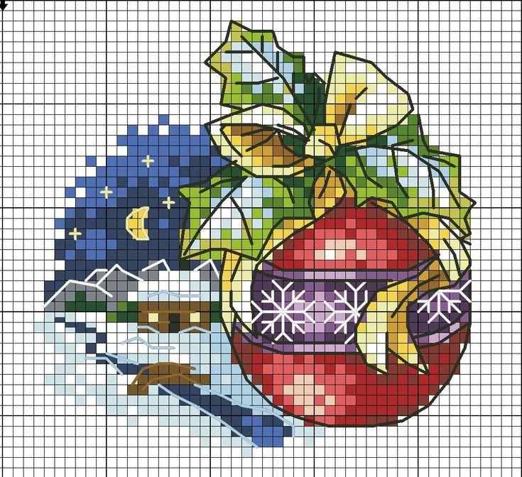 Схемы вышивка в открытках новый год, годик картинки
