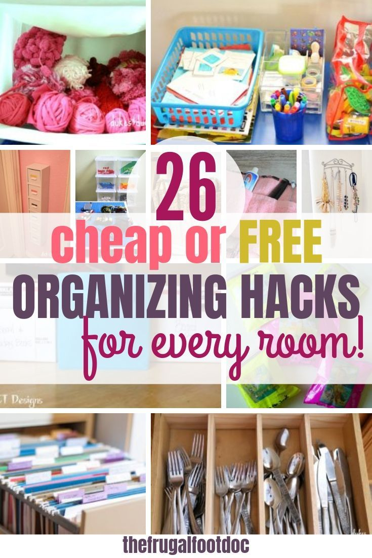 Getting Organized On A Budget Cheap Or Free Diy Hacks Diy On A Budget Diy Organization Organization Hacks