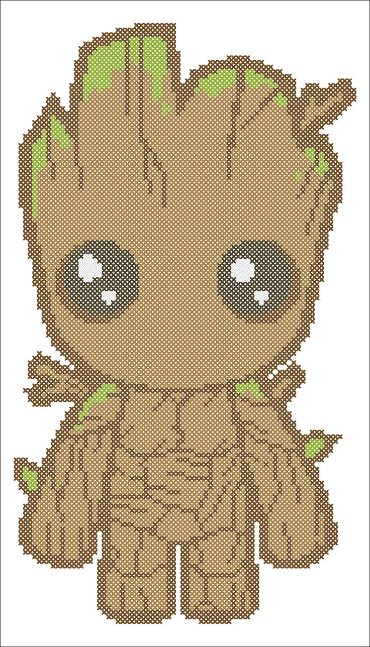 BOGO FREE! Superheroes GROOT Marvel  Comics Guardians of the Galaxy Movie Cross Stitch Pattern - pdf pattern instant download  #237 by Rainbowstitchcross on Etsy