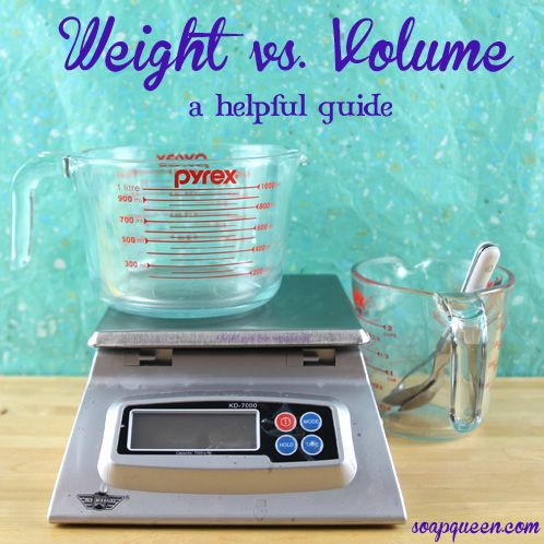 Soap QueenA Guide to Weight vs. Volume | Soap Queen