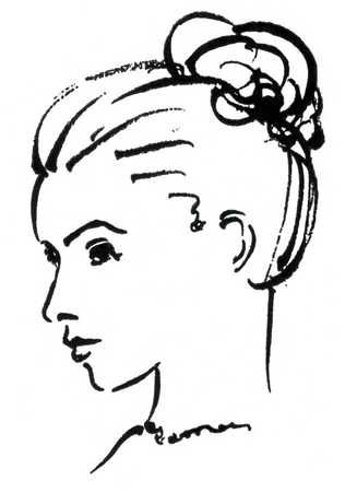 how to draw a side profile of a woman