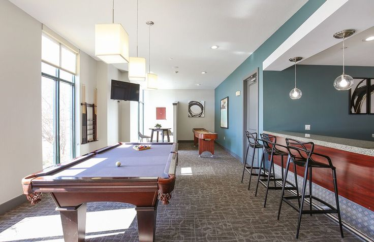 Who's up for a game of #billiards in our newly renovated clubhouse? #ArriveWatertower in #EdenPrairie