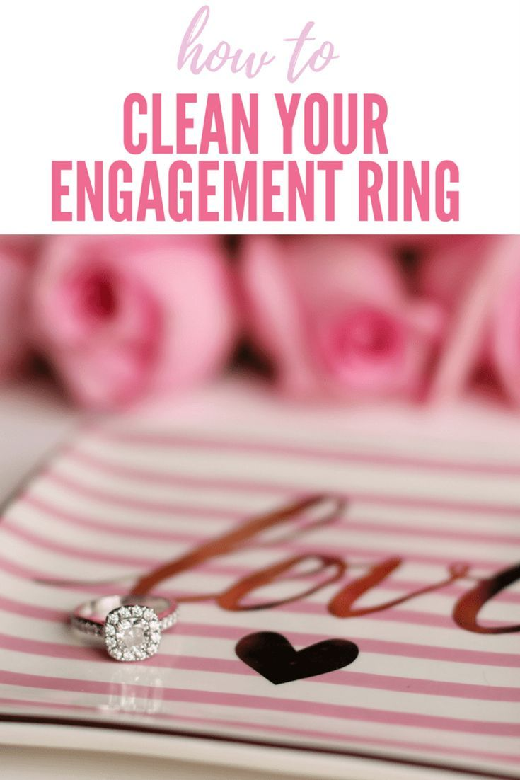 How to clean your engagement ring!