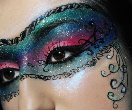 """Painted faces on parade, Masquerade!"" This would be a gorgeous look for the scene in Phantom of the Opera."