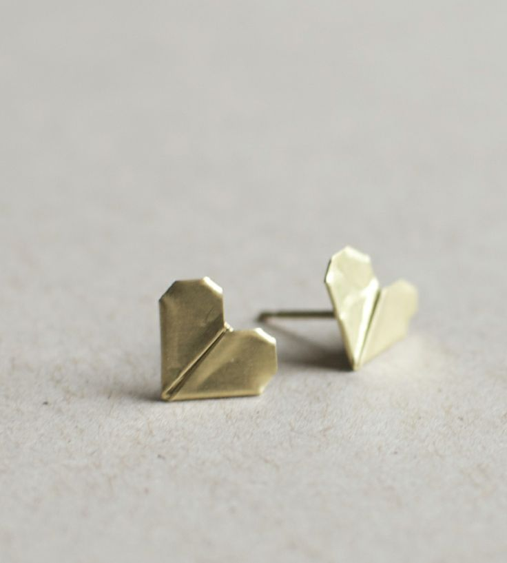 Folded Heart Earrings | Collections Rustic Jewelry | Mitsymoto Designs | Scoutmob Shoppe | Product Detail