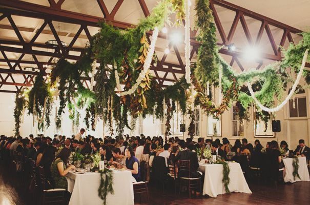 Romantic Garlands Of Flowers And Greenery Draped Across