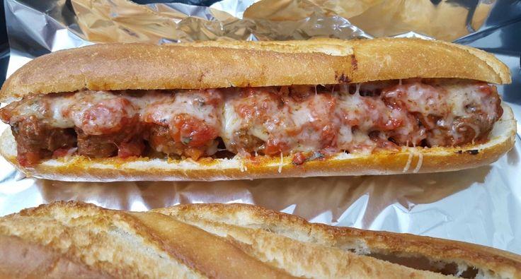 New York-i húsgombóc szendvics