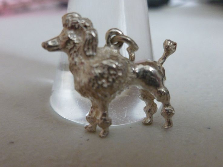 Silver Poodle Dog Charm - Vintage Dog Charm - Vintage Poodle Pendant - Silver Poodle Pendant - Vintage Silver charm - Vintage 925 Pendant by Teddyrose54 on Etsy