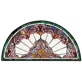 Found it at Wayfair - Lady Astor Demi Lune Stained Glass Window