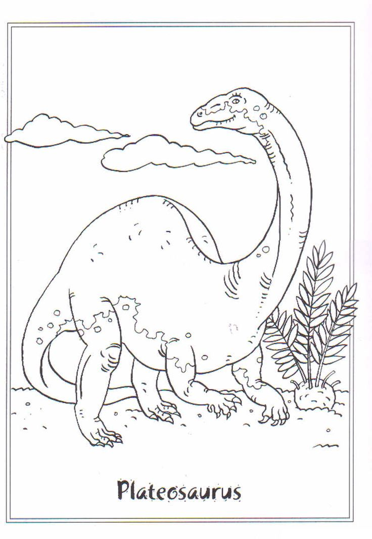 10 best Dinosaur Coloring Pages images on Pinterest Coloring