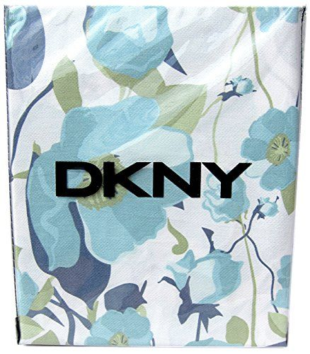 DKNY Botanical Nature 100 Cotton Shower Curtain Floral Poppy Seed Flower Design Turquoise Green