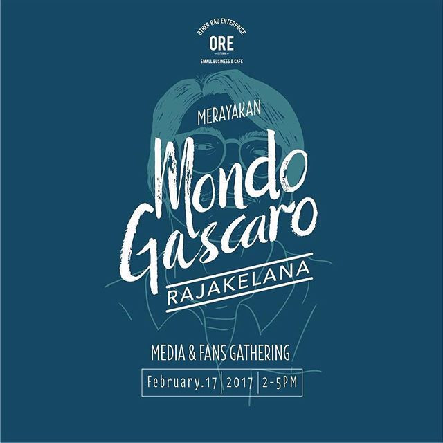 Hari ini! Dalam rangka merayakan @MondoGascaro - RajaKelana , Mondo akan singgah ke ORE untuk media & fans gathering. Acara ini terbuka untuk semua, jangan lupa Jumat; 17 Februari 2017 pukul 14.00-17.00 bertempat di ORE Store [Jl. Untung Suropati No.83, Surabaya]