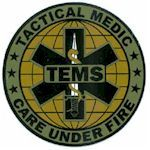 Tactical Medic Care Under Fire (TEMS) Logo