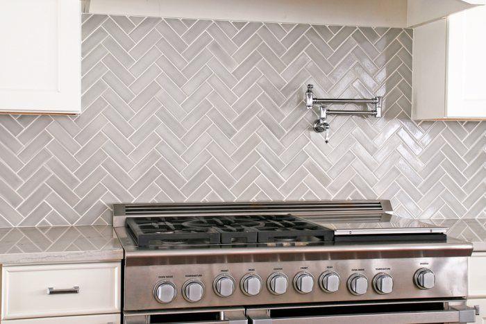 Herringbone Kitchen in Foggy Morning   Installation Gallery   Fireclay Tile