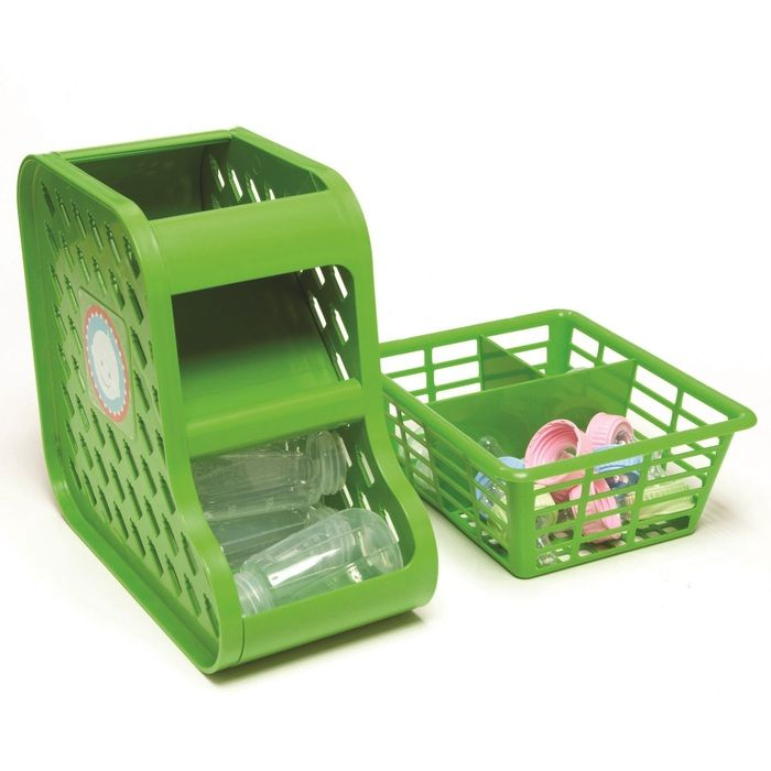 Kitchen Organization For Baby Stuff: Mom's Small Kitchen Space Saver! Store All Baby Bottles