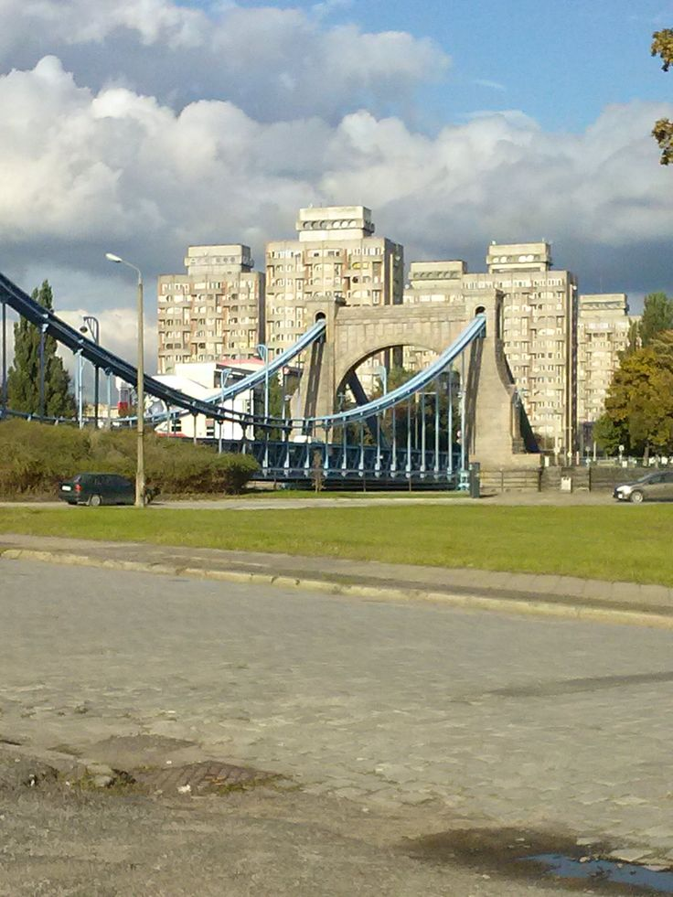 Wrocław, widok na Plac Grunwaldzki, na pierwszym planie Most Grunwaldzki