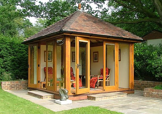 Building a large wooden shed garden offices sussex wood for Garden office and storage