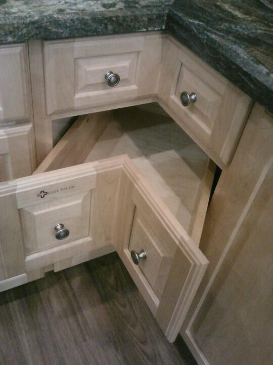 Use Of Corner Space In Kitchen Cabinet Rev A Shelf