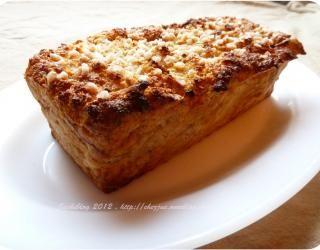 Recette - Gâteau de pain perdu, pomme et cannelle | 750g