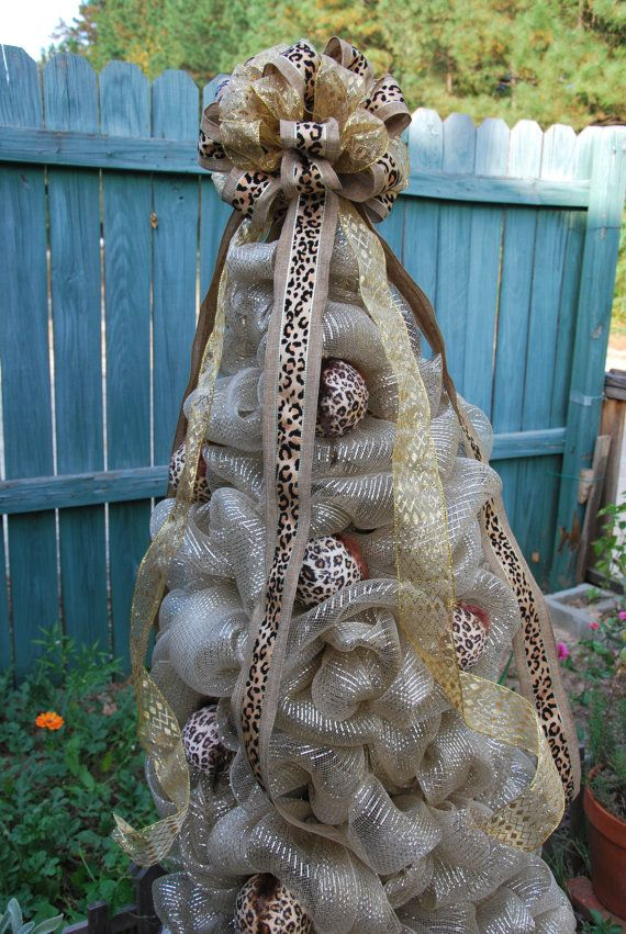 Mesh Christmas Tree with Lights by PeacefulPeasants on Etsy, $175.00