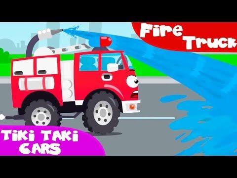Brandbil för barn. Tecknad film om bilar. Tecknad film svenska. Barnprogram - YouTube