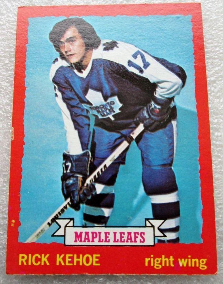 1973-74 TORONTO MAPLE LEAFS RICK KEHOE CARD! N/M O PEE CHEE  #TorontoMapleLeafs